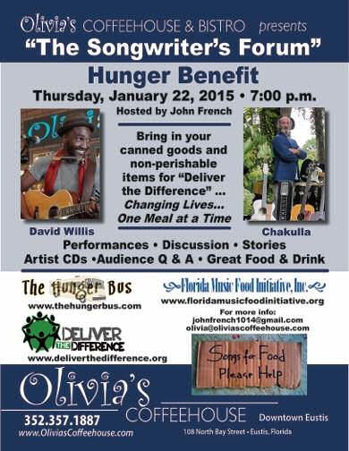 "special Songwriter's Forum ""Hunger Benefit"""